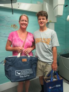 Megan and Carter at Dr. Remington's Orthodontic office in Guilford, CT